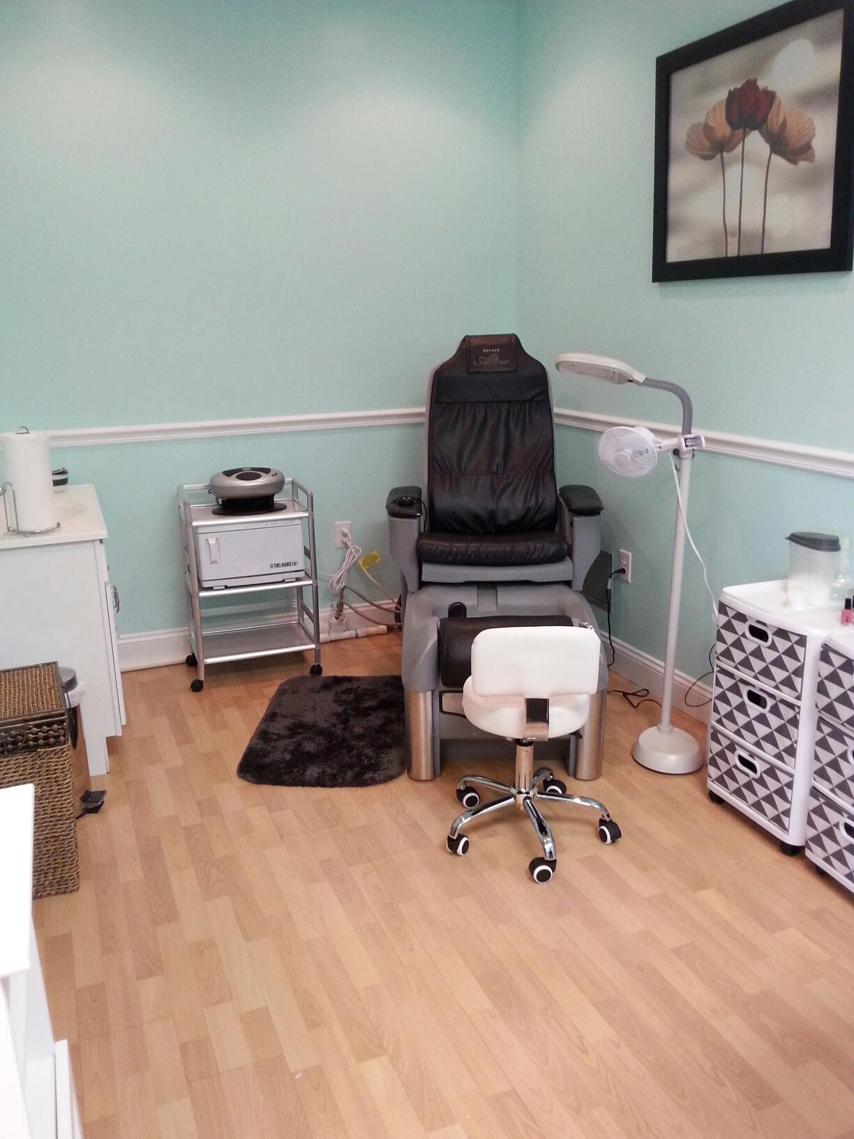 Pedicure Side of Nail Room
