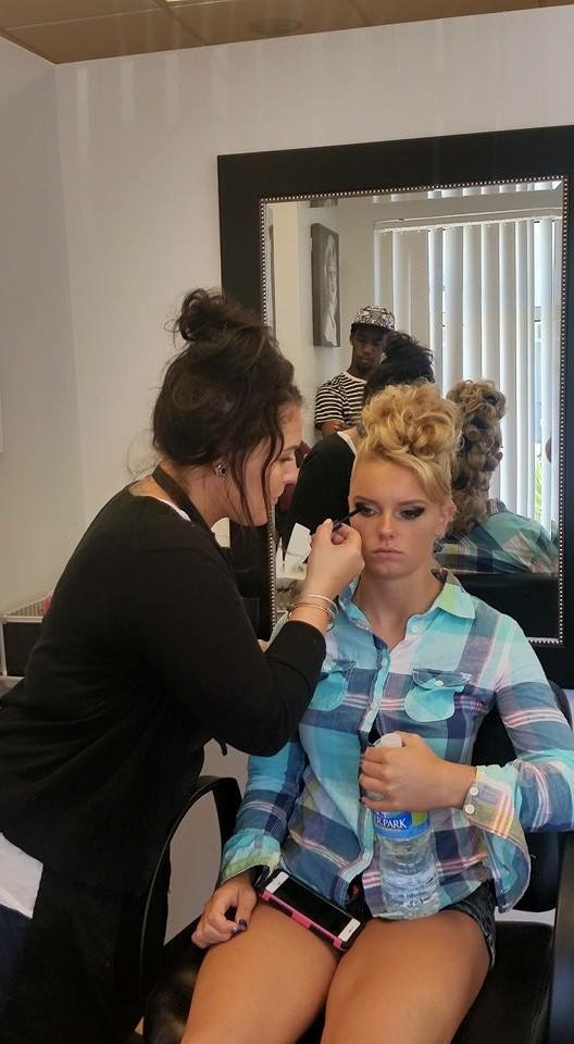 Amanda B. working her magic